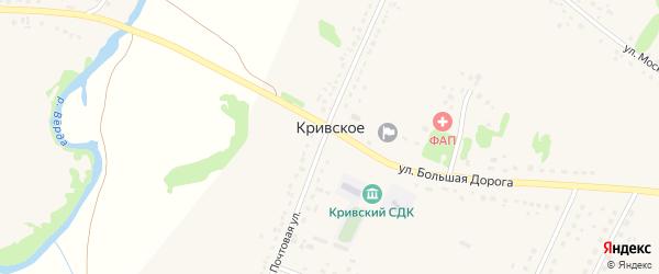 Улица Бугры на карте Кривское села Рязанской области с номерами домов