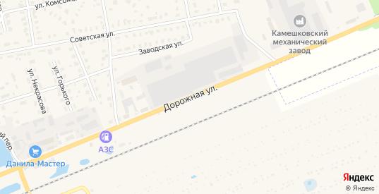 Дорожная улица в Камешково с номерами домов на карте. Спутник и схема онлайн