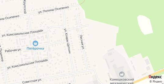Лесная улица в Камешково с номерами домов на карте. Спутник и схема онлайн