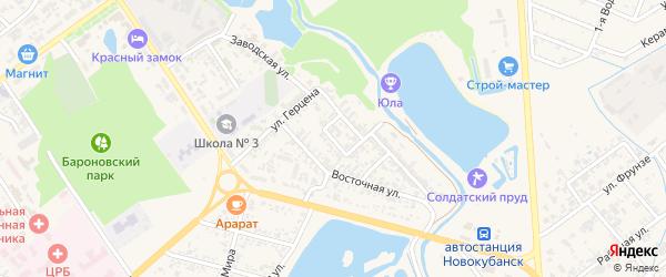 Береговой переулок на карте Новокубанска с номерами домов