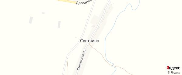 Свечинская улица на карте деревни Светчино Тамбовской области с номерами домов