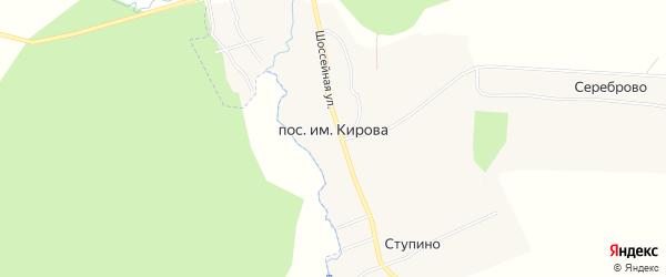 Карта поселка им Кирова в Владимирской области с улицами и номерами домов