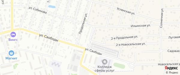 2-я Продольная улица на карте Иваново с номерами домов