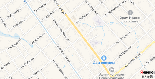 Улица Чернышевского в Новокубанске с номерами домов на карте. Спутник и схема онлайн