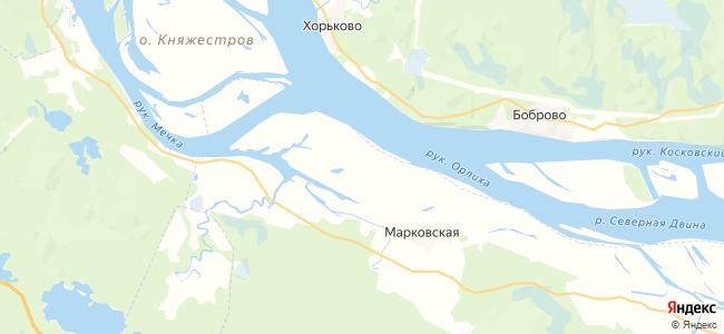 Остров Гривы на карте