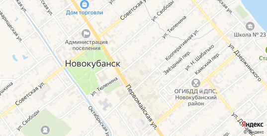 Молодежный переулок в Новокубанске с номерами домов на карте. Спутник и схема онлайн