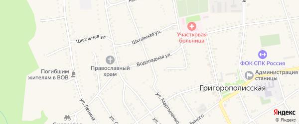 Улица Мартыненко на карте Григорополисской станицы Ставропольского края с номерами домов