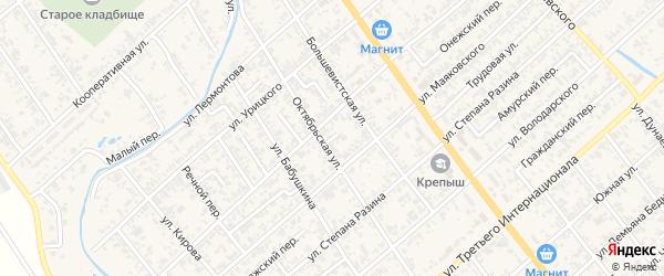 Кольцевой переулок на карте Новокубанска с номерами домов