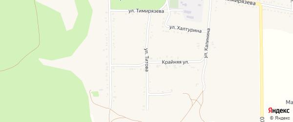 Улица Титова на карте Григорополисской станицы Ставропольского края с номерами домов
