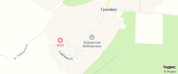 Центральная улица на карте поселка Гринево с номерами домов