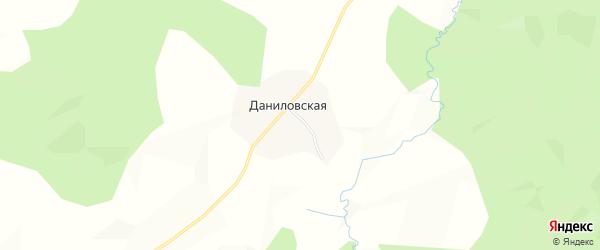 Карта Даниловской деревни сельсовета Вожегодского в Вологодской области с улицами и номерами домов