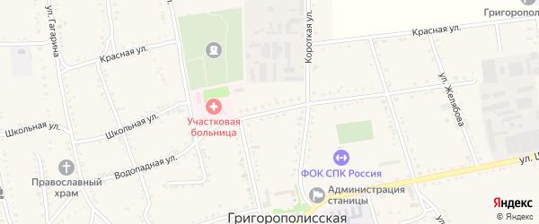 Водопадная улица на карте Григорополисской станицы Ставропольского края с номерами домов