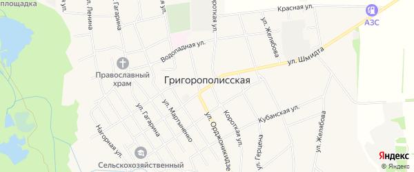 Карта Григорополисской станицы в Ставропольском крае с улицами и номерами домов