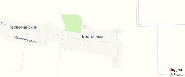 Карта Восточного поселка в Ставропольском крае с улицами и номерами домов