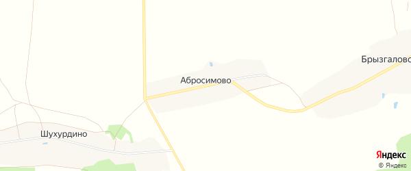 Карта деревни Абросимово в Владимирской области с улицами и номерами домов