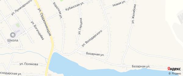 Улица Володарского на карте Григорополисской станицы Ставропольского края с номерами домов