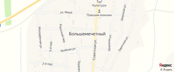 Мирная улица на карте Большемечетного хутора Ростовской области с номерами домов