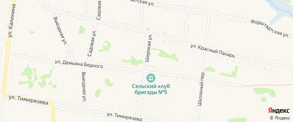 Широкая улица на карте Григорополисской станицы Ставропольского края с номерами домов