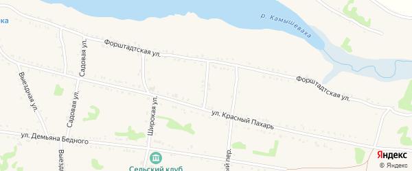 Пионерский переулок на карте Григорополисской станицы Ставропольского края с номерами домов