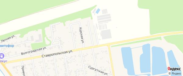 Белореченская улица на карте Новокубанска с номерами домов