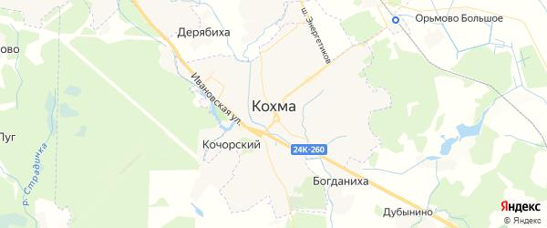 Карта Кохмы с районами, улицами и номерами домов: Кохма на карте России
