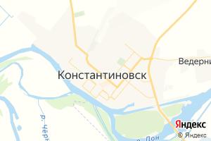Карта г. Константиновск Ростовская область