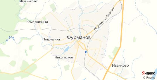 Карта Фурманова с улицами и домами подробная. Показать со спутника номера домов онлайн