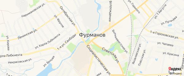Садовое товарищество Энтузиаст на карте Фурманова с номерами домов