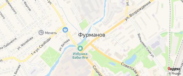 Красный переулок на карте Фурманова с номерами домов