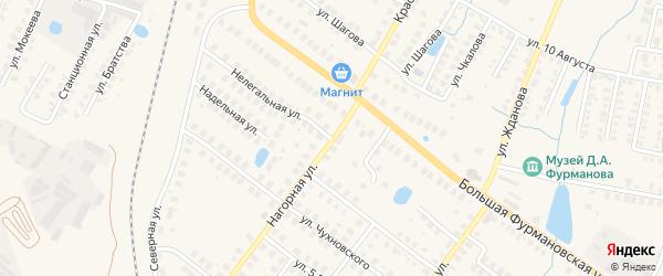 Нелегальная улица на карте Фурманова с номерами домов
