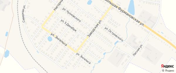 Заводская улица на карте Фурманова с номерами домов