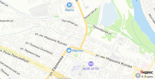 Улица Красный Обрыв в Армавире с номерами домов на карте. Спутник и схема онлайн