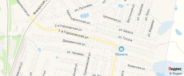 Гороховская 1-я улица на карте Фурманова с номерами домов