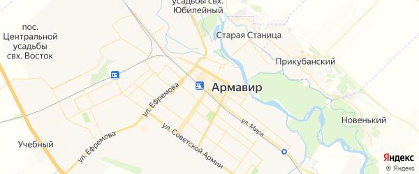 Карта Армавира с районами, улицами и номерами домов