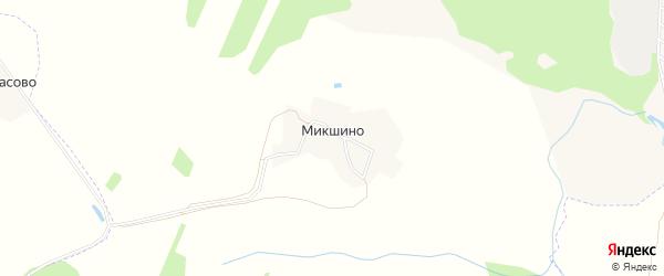 Карта деревни Микшино города Волгореченска в Костромской области с улицами и номерами домов