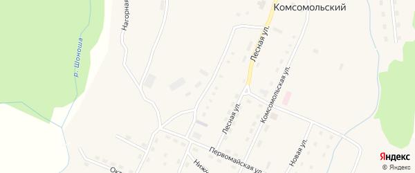 Пристанционная улица на карте Комсомольского поселка с номерами домов