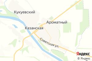 Карта ст. Казанская Ростовская область