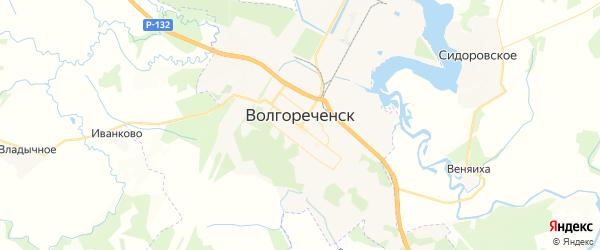 Карта Волгореченска с районами, улицами и номерами домов