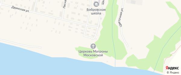 Пионерская улица на карте поселка Боброво с номерами домов