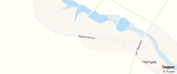 Заречная улица на карте хутора Чапцева Ставропольского края с номерами домов