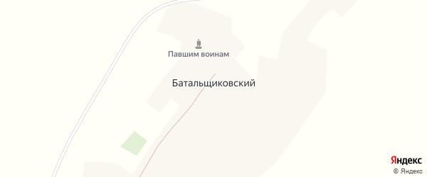 Старая улица на карте Батальщиковского хутора Ростовской области с номерами домов