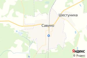 Карта пос. Савино Ивановская область