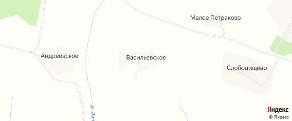 Карта деревни Васильевского в Вологодской области с улицами и номерами домов