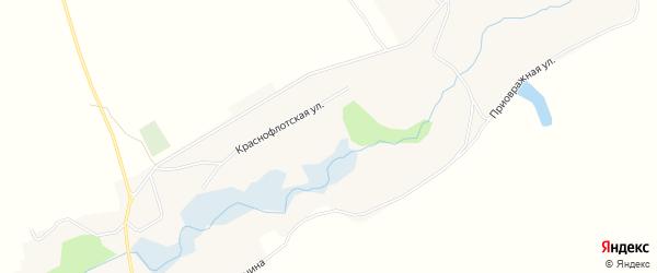 Карта Краснофлотского села в Воронежской области с улицами и номерами домов
