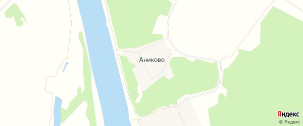 Карта деревни Аниково в Рязанской области с улицами и номерами домов
