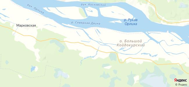 Борковская на карте