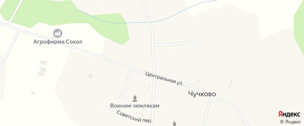 Молодежная улица на карте деревни Чучково Вологодской области с номерами домов