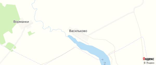 Карта деревни Васильково в Ивановской области с улицами и номерами домов