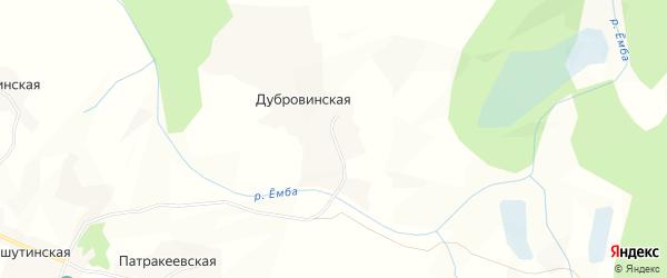 Карта Дубровинской деревни в Вологодской области с улицами и номерами домов