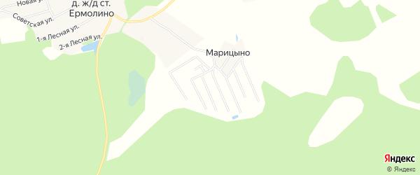 СНТ Марица на карте Ивановского района Ивановской области с номерами домов